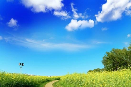 <唯美蓝天白云风景图片电脑壁纸