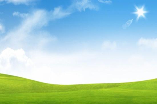 <清新护眼绿色草地风景图片桌面壁纸