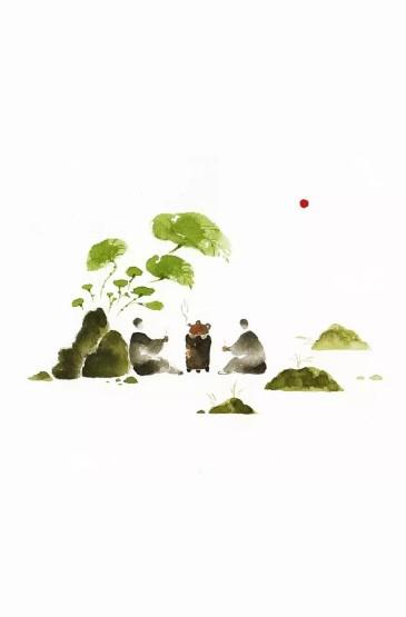 <简约中国风绘画手机壁纸