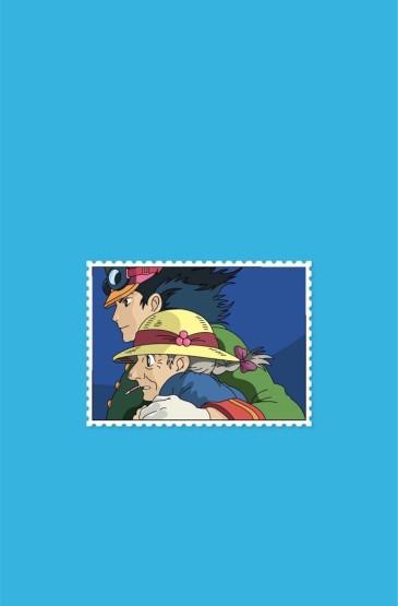 宫崎骏作品纯色背景高清手机壁纸