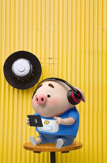 清新粉色猪猪手机壁纸图片