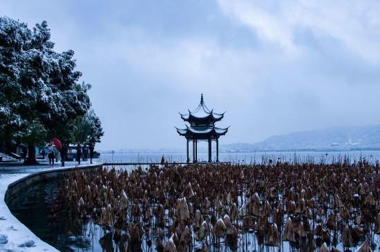 杭州雪景图片高清桌面壁