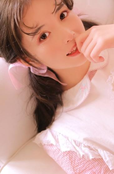 粉红兔女郎手机壁纸图片