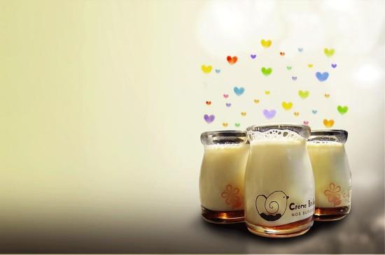 <小清新香醇牛奶图片桌面壁纸