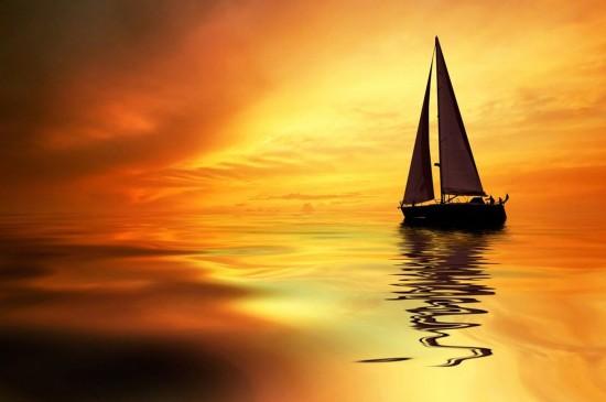 海上帆船唯美风景图片桌面壁纸