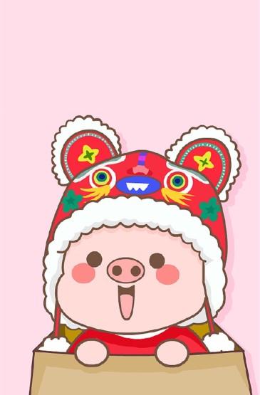 猪年卡通可爱高清手机壁纸