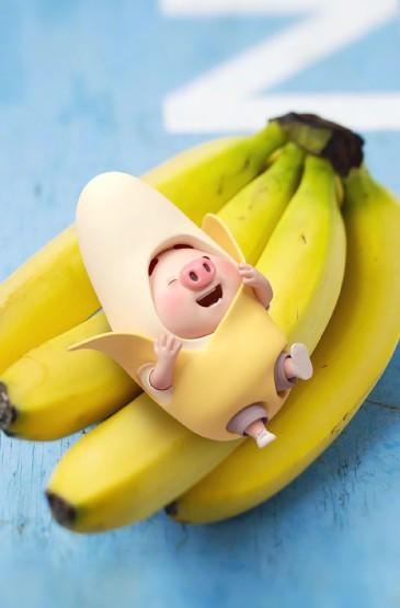萌系卡通小猪猪粉色手机壁纸图片