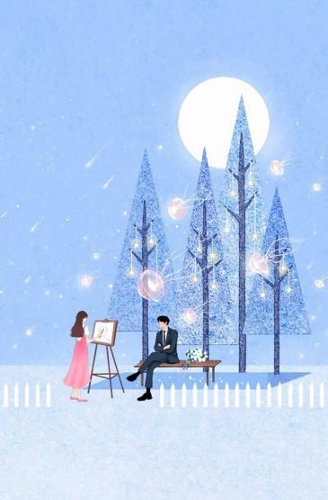 清新浪漫情侣主题手机壁纸