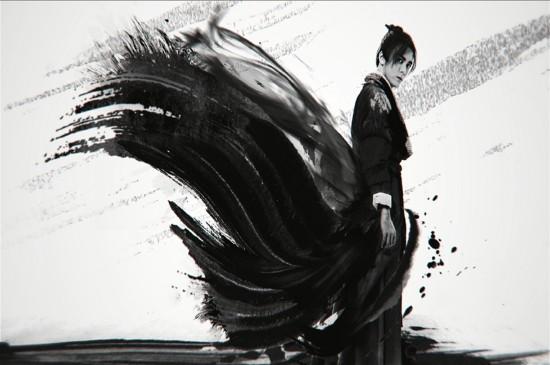 《倚天屠龙记》黑白影视海报图片桌面壁纸