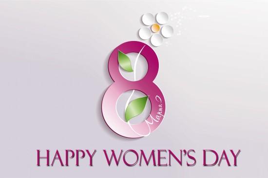 三八妇女节数字8创意桌面壁纸图片