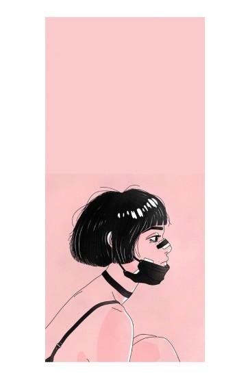 炫酷少女插画手机壁纸图片