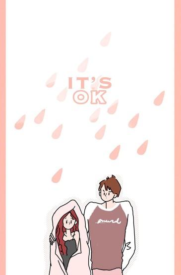 <创意卡通情侣插画图片手机壁纸