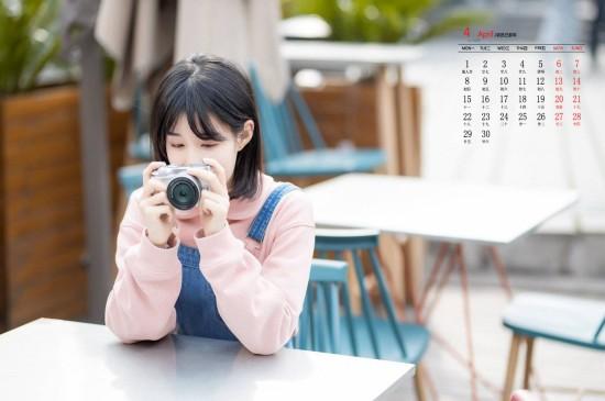 2019年4月俏丽清纯美女