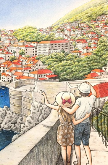 小清新爱情故事手机壁纸图片