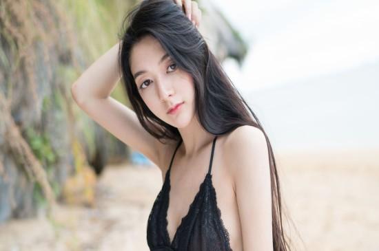 性感美女睡衣写真黑纱蕾丝尽显完美身材