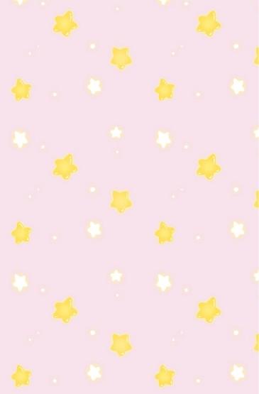 可愛星星平鋪手機壁紙