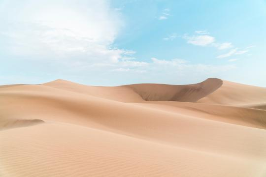 夏日沙漠唯美小清新风光