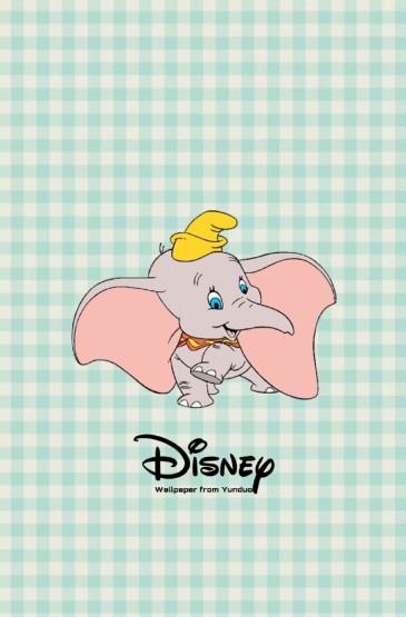 可爱小飞象高清手机壁纸