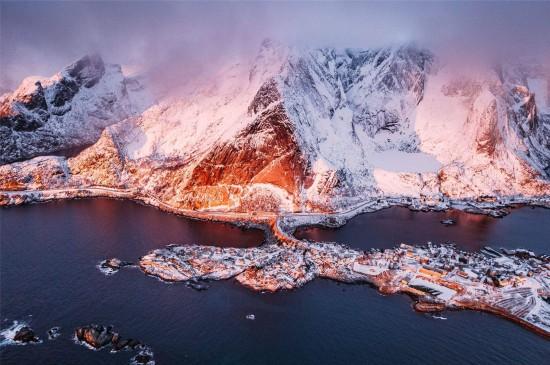 挪威群岛风光高清桌面壁纸