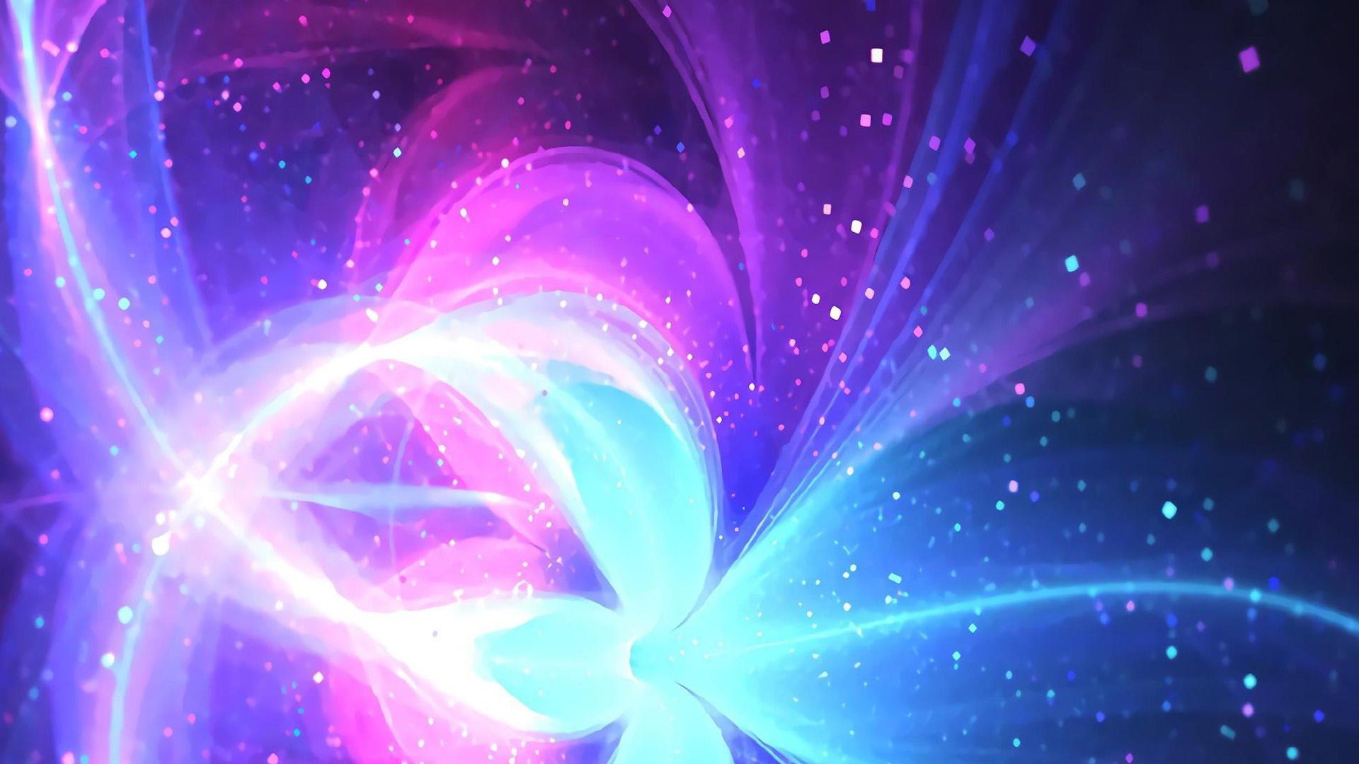 炫彩光影抽象设计桌面壁纸