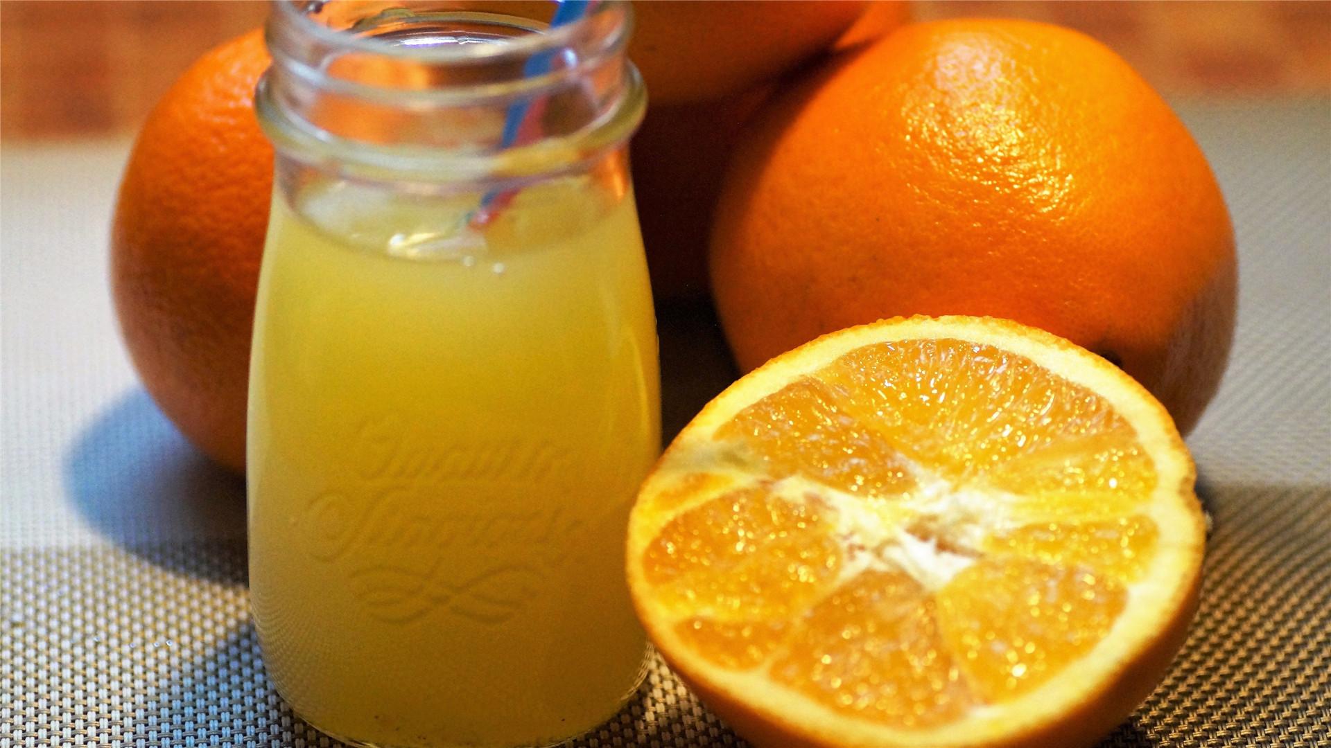 可口的橙汁饮料美食高清桌面壁纸