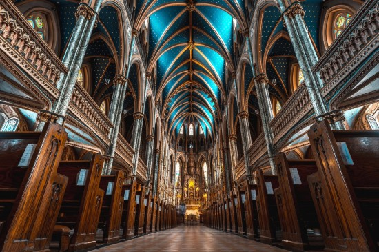 法国巴黎圣母院美景建筑