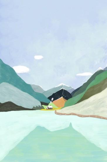 唯美手繪風景手機壁紙