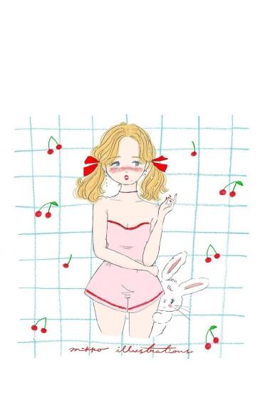 甜美少女心手機壁紙圖片