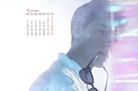 2019年6月李易峰帅气写真日历图片桌面壁纸