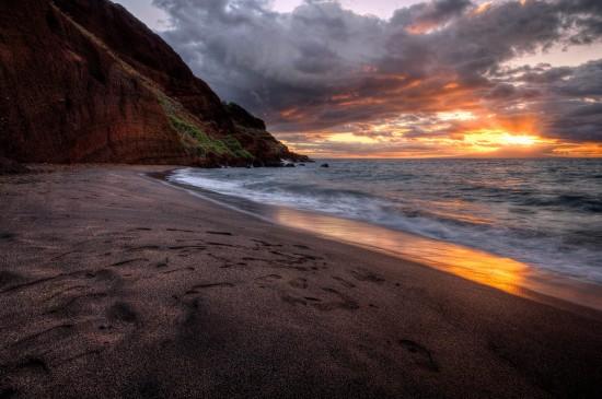 唯美海边沙滩风景桌面壁纸