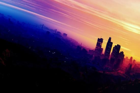 夜晚城市风景图片桌面壁纸