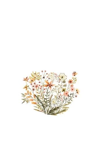 简约植物插画手机壁纸图片