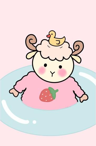 甜系软萌粉色手机壁纸