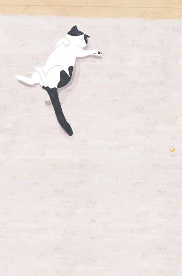 简约猫咪插画手机壁纸图片