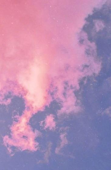 粉紫调云霞风景手机壁纸