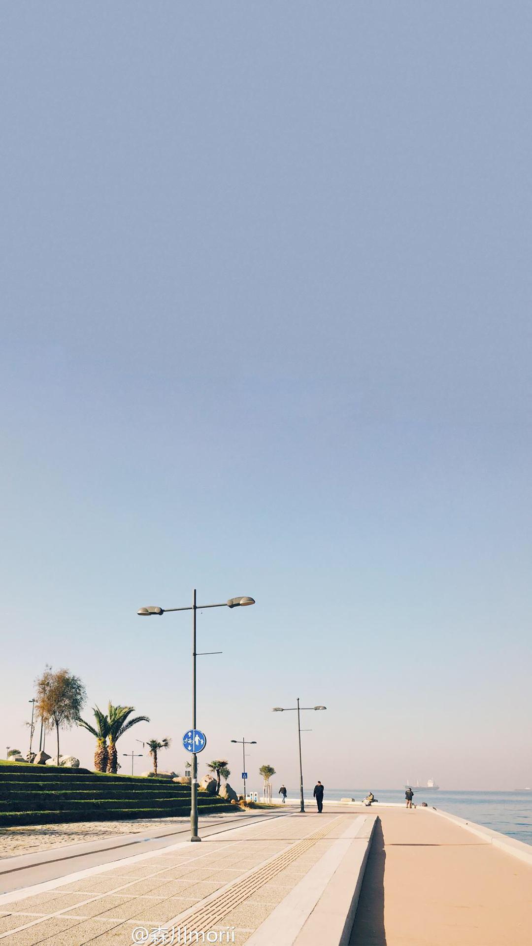 小清新海边风景无水印图片手机壁纸