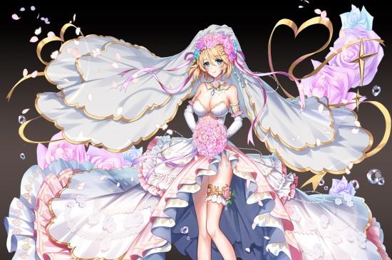 精美华服婚纱美女二次元动漫美女1080P桌面壁纸