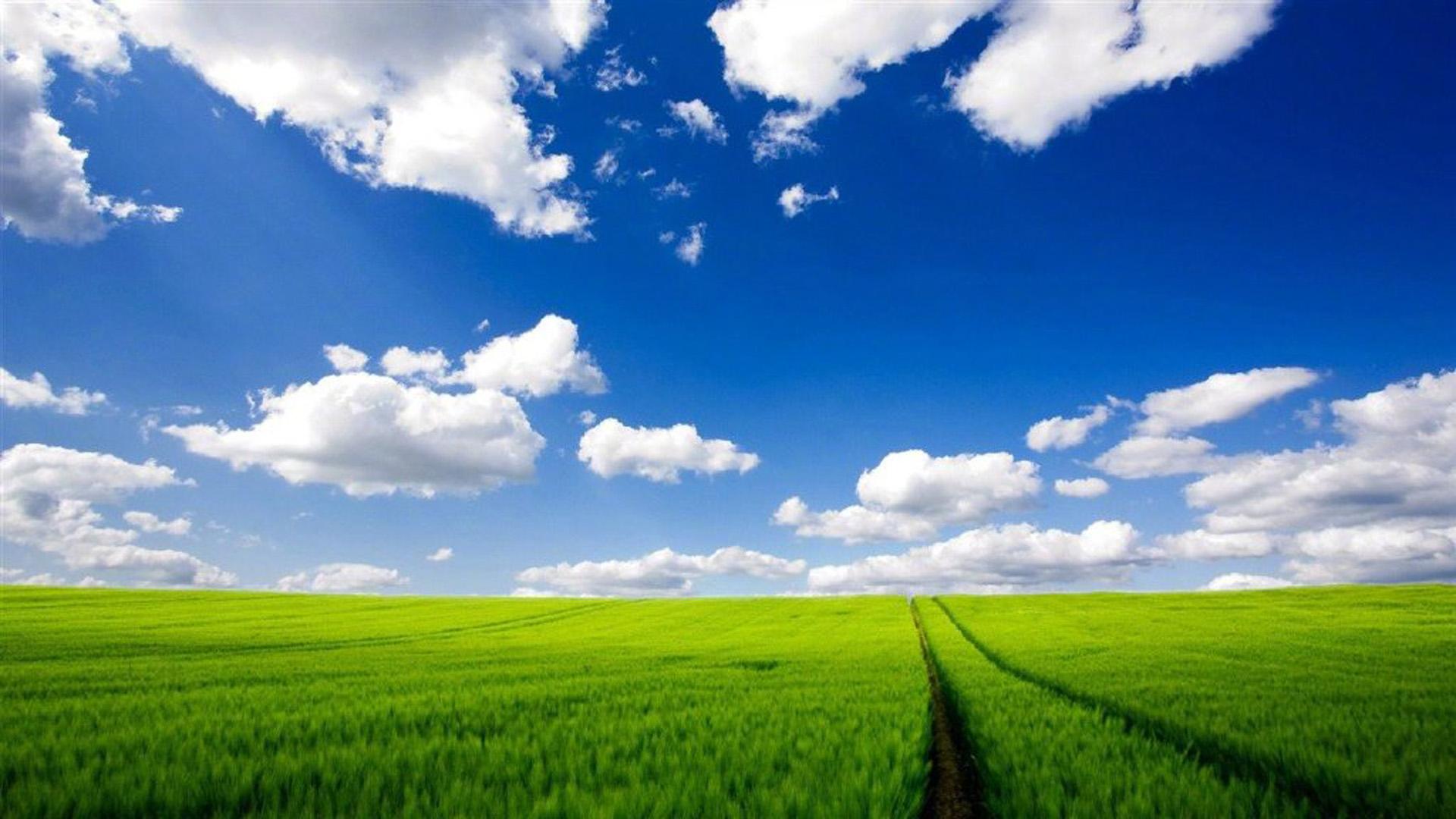 唯美夏日蓝天白云风光图片高清壁纸