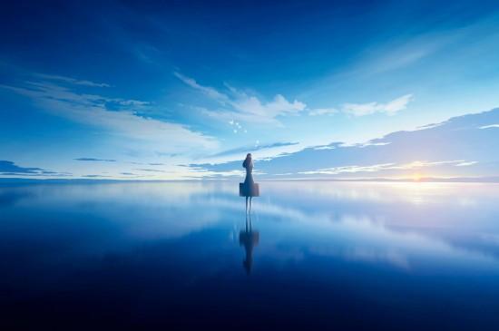 二次元动漫美女风景图片