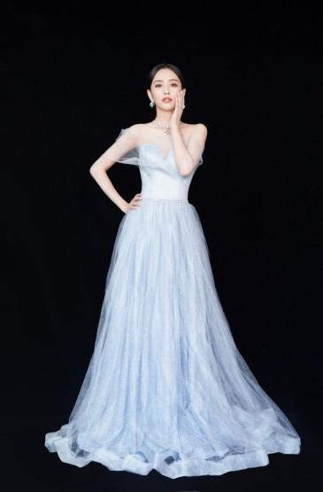 佟丽娅白裙优雅写真图片