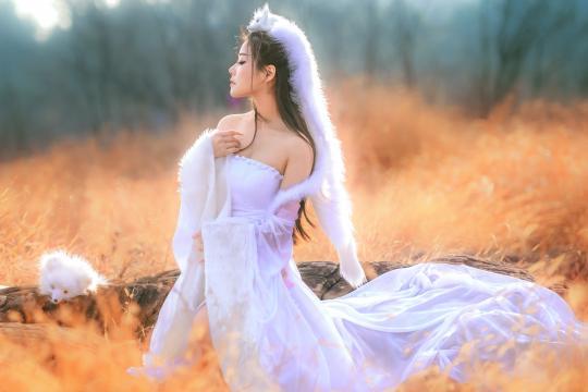 修行千年的性感白狐美女