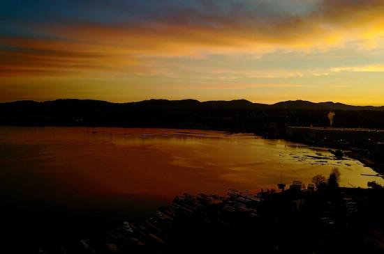 国外山川自然风景图片桌