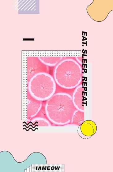 清甜粉色少女心手机壁纸