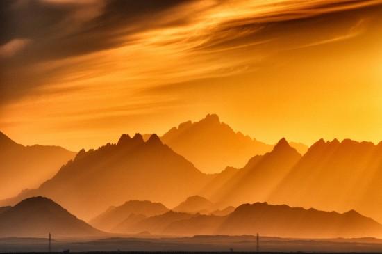 唯美迷人的黄昏风光日落高清图片桌面壁纸