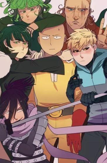 《一拳超人》炫酷动漫人物插画图片手机壁纸