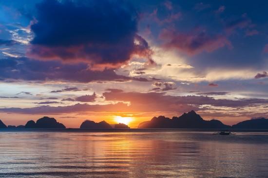 唯美夕阳西下美景桌面壁纸