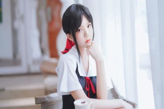 清纯JK制服美女校园唯美写真桌面壁纸