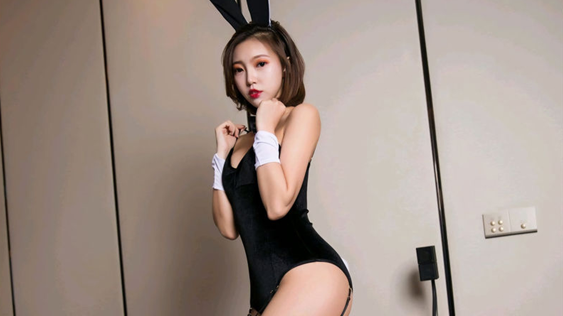 性感美艳私房兔女郎唯美爆乳大胸诱惑写真桌面壁纸