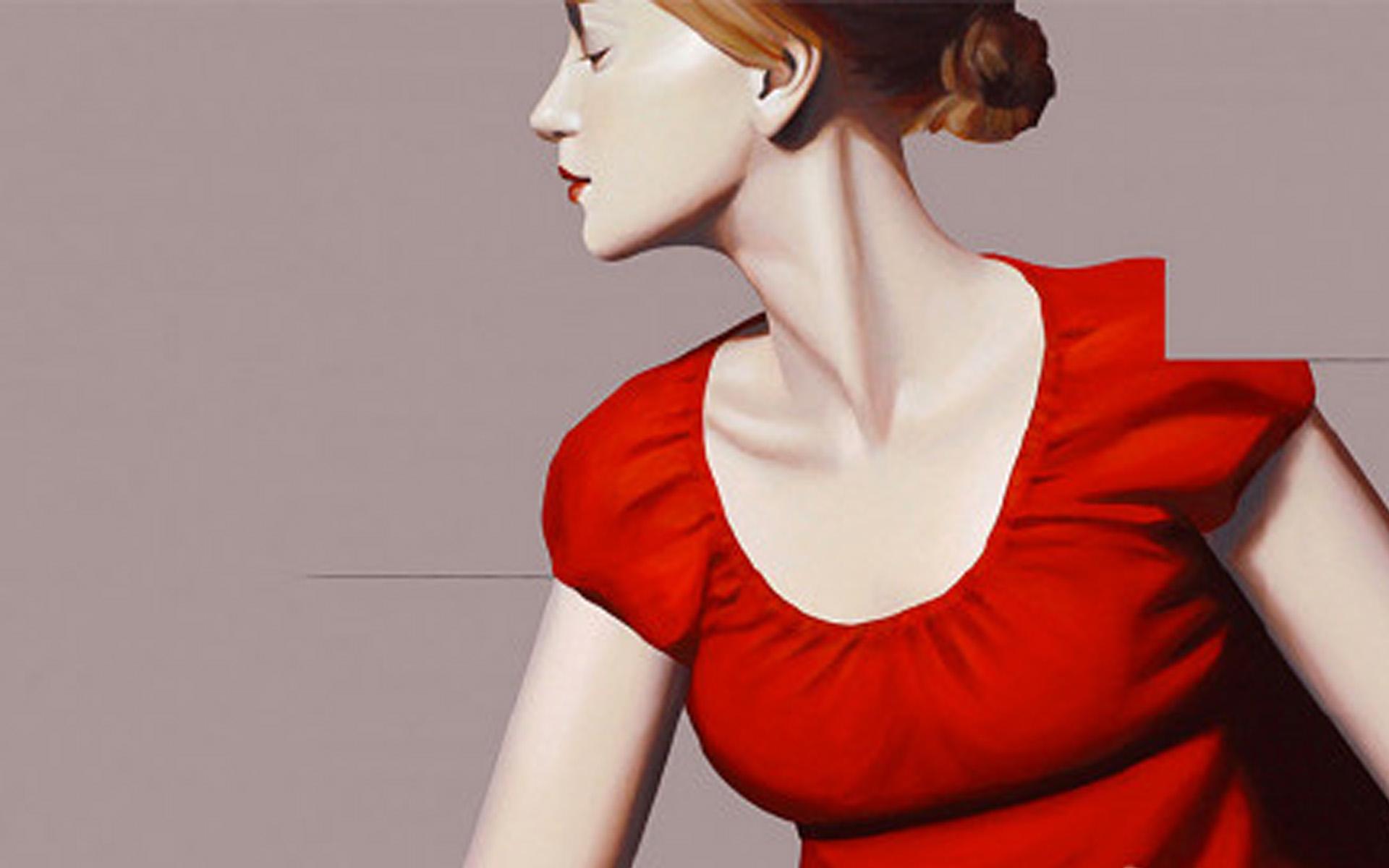 抽象人物唯美形体艺术精致设计壁纸写真