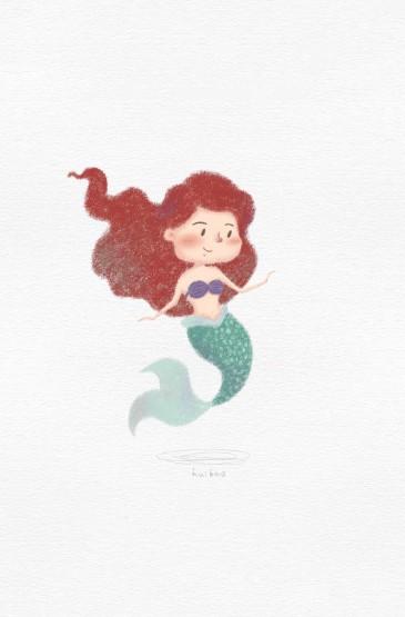 <迪士尼公主卡通手绘高清手机壁纸